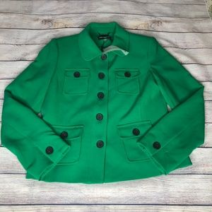 NWT Karl Lagerfeld Kelly Green Blazer Size 10